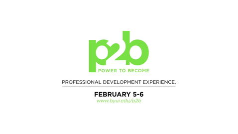 Thumbnail for entry President Gilbert's Power to Become (P2B) Conference Invitation