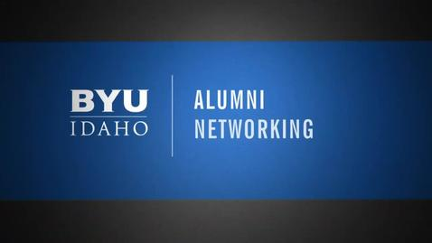 Thumbnail for entry Be Part of the BYU-Idaho Alumni Network