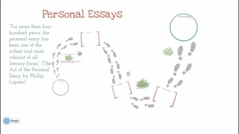 Thumbnail for entry Elements of the Personal Essay
