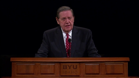 """Thumbnail for entry Elder Jeffrey R. Holland - """"Living after the Manner of Happiness"""""""