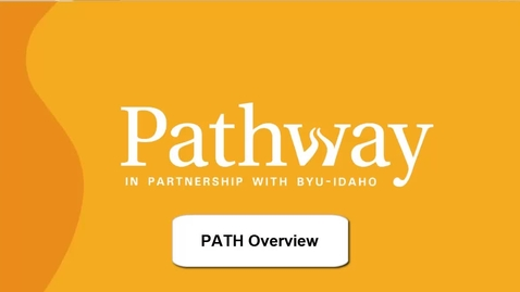Thumbnail for entry PATH Overview