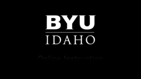 Thumbnail for entry Online Instructor - BYUI