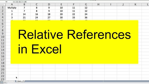 Thumbnail for entry Relative References in Excel