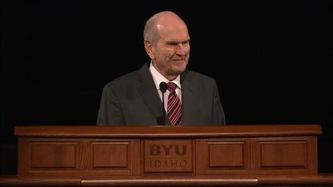"Thumbnail for entry Russell M. Nelson - ""Rebroadcast of 'The Lord Uses the Unlikely to Accomplish the Impossible'"""
