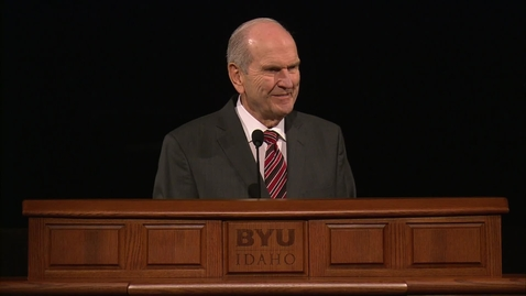 """Thumbnail for entry Russell M. Nelson - """"Rebroadcast of 'The Lord Uses the Unlikely to Accomplish the Impossible'"""""""
