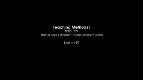Thumbnail for entry TESOL 377 FLES Classroom Video