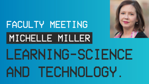 Thumbnail for entry BYU-Idaho Faculty Meeting Featuring Dr. Michelle Millar