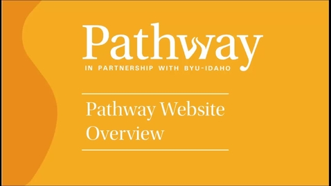 Thumbnail for entry Pathway Website Overview (Spanish)