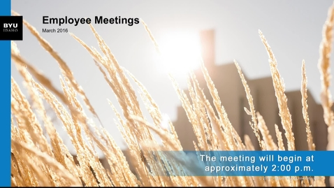 Thumbnail for entry All Employee Meeting: Faculty - March 31 2016