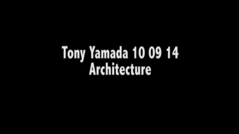 Thumbnail for entry Tony Yamada Art Seminar 10.9.14