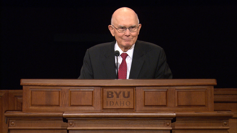 """Thumbnail for entry ASL: Dallin H Oaks """"Living in Challenging Times"""""""
