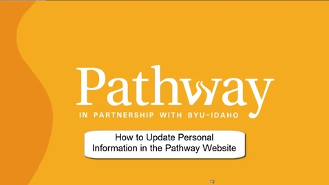 Thumbnail for entry Updating Information in Pathway Website