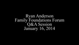 Ryan Anderson Forum Q&A