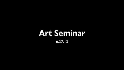 Thumbnail for entry Craig Law - Photography - Art Seminar - 6/27/2013