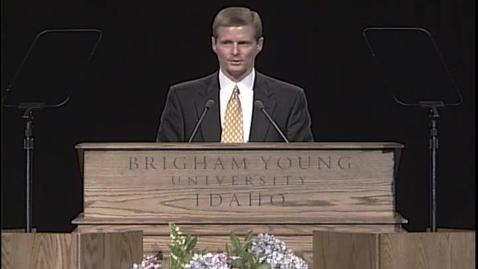 """Thumbnail for entry David A. Bednar """"Steadfast and Immovable (Mosiah 5:15)"""""""