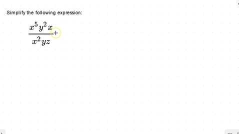 Thumbnail for entry Lesson 10 - Dividing with Exponents #6