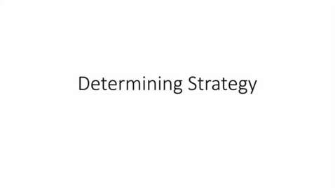 Thumbnail for entry PC 102 Determining Strategy