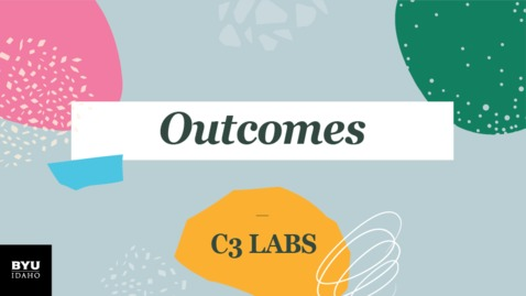 Thumbnail for entry C3 Labs: Outcomes