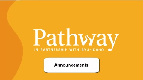 Thumbnail for entry Announcements in PATH