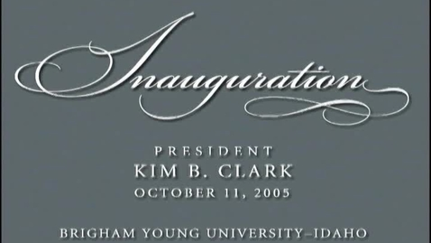 Thumbnail for entry Kim B. Clark Inauguration