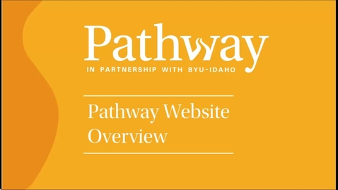 Thumbnail for entry Pathway Website Overview (English)