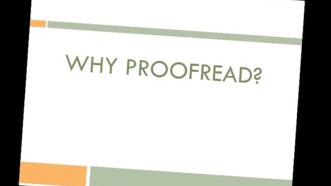 Thumbnail for entry Proofreading