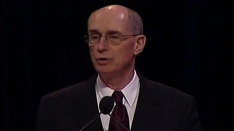 """Thumbnail for entry Henry B. Eyring  """"The Temple and the College on the Hill"""""""