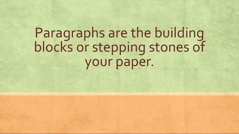 Thumbnail for entry Paragraphs