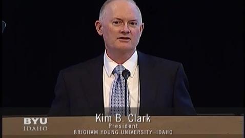 Thumbnail for entry President Kim B. Clark