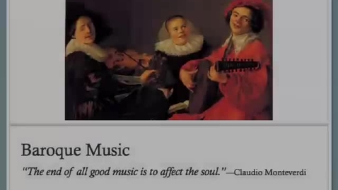 Thumbnail for entry Baroque Music