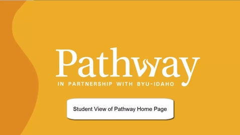 Thumbnail for entry Students View of Pathway