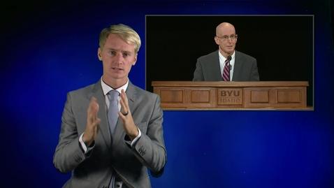 """Thumbnail for entry ASL: President Henry J. Eyring - """"Rising Above Opposition"""""""