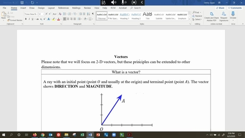 Thumbnail for entry MATH 109 - Add Vectors to Find Resultant Force