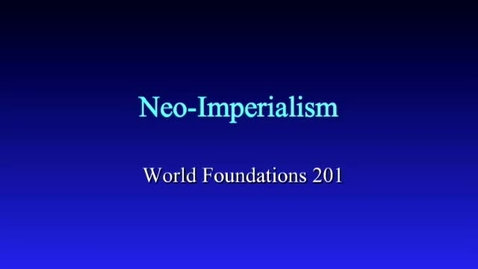 Thumbnail for entry Neo-Imperialism: Egypt
