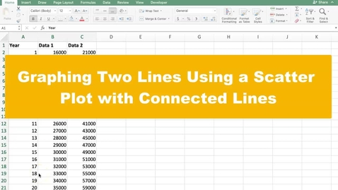 Thumbnail for entry Graphing Two Lines Using a Scatter Plot with Connected Lines