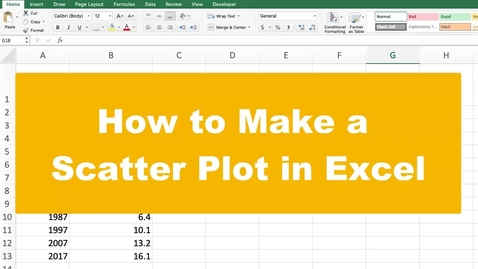 Thumbnail for entry How to Make a Scatter Plot in Excel
