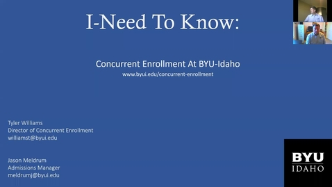 Thumbnail for entry  I Need To Know - Concurrent Enrollment