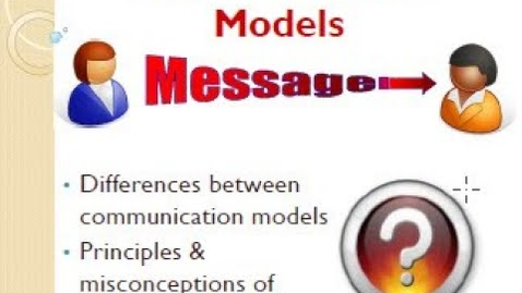 Thumbnail for entry Communication: Types of Models, Principles & Misconceptions