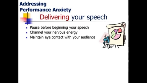 Thumbnail for entry Speech Anxiety: When it Occurs and Specific Suggestions