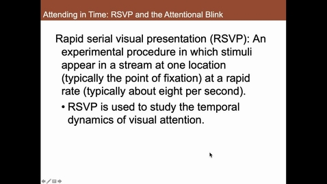 Thumbnail for entry RSVP and the Attentional Blink