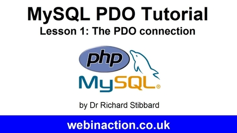 Thumbnail for entry MySQL PDO Tutorial Lesson 1 - Connection