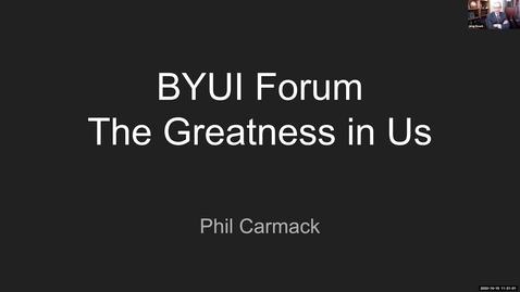 """Thumbnail for entry Phil Carmack - """"How to Find Your Dream and Then Achieve It"""""""