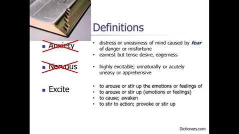 Thumbnail for entry Speech Anxiety: Definitions & Causes