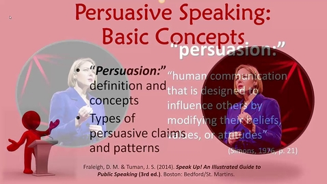 Thumbnail for entry Persuasive Speaking: Basic Concepts