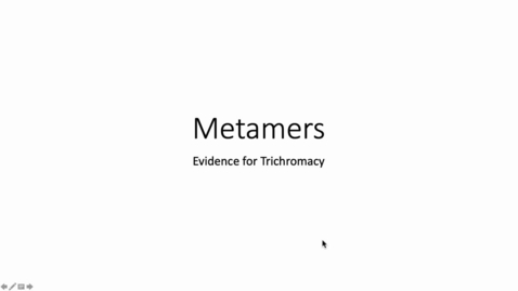 Thumbnail for entry Metamers