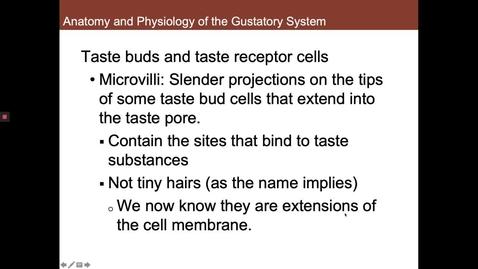 Thumbnail for entry Taste Receptors
