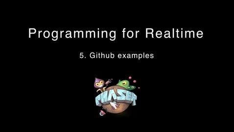 Thumbnail for entry 5. github