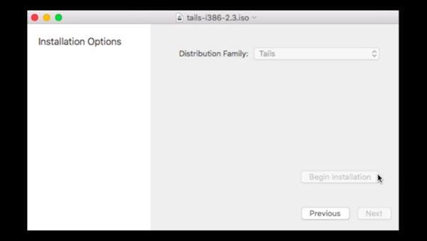 用Mac Linux Loader制作MacBook Air的Tails USB手指