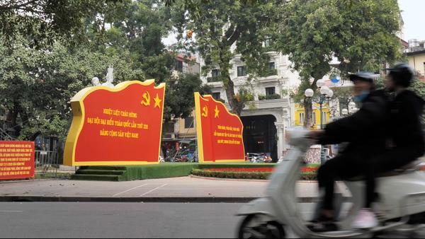 Vietnam Bedecked with Patriotic Displays as Major Communist Party Congress Opens