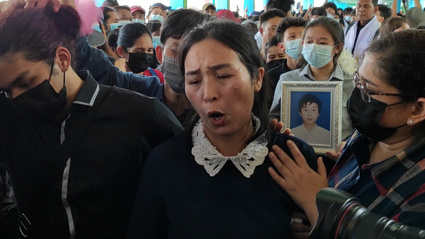Mother Mourns Son Killed During Anti-Coup Protests in Yangon
